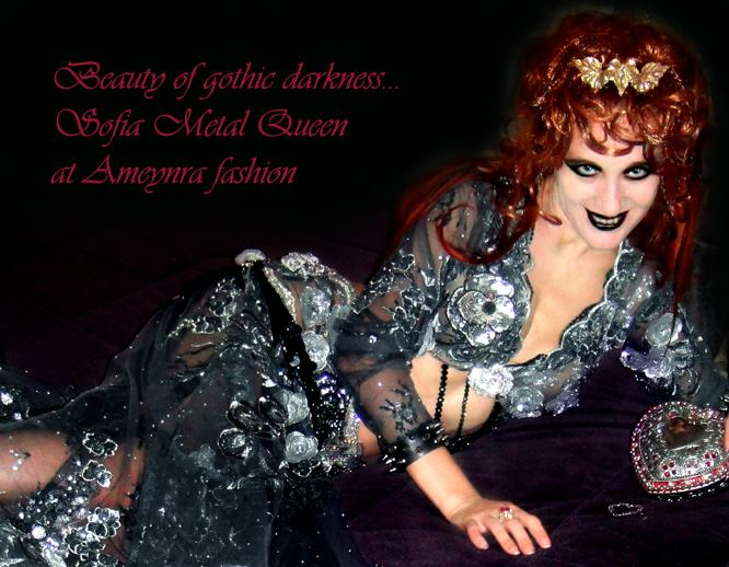 Gothic darkness. Metal bellydance fashion by Sofia by SOFIAMETALQUEEN