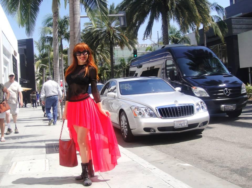 Ameynra fashion, Sofia Metal Queen. High-low skirt by SOFIAMETALQUEEN