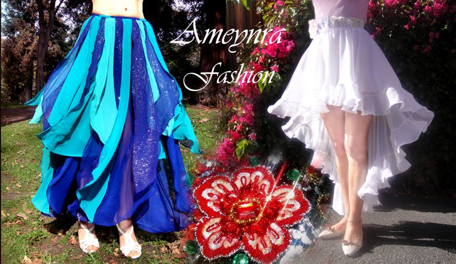 Ameynra fashion chiffon skirts - maxi and high low by SOFIAMETALQUEEN