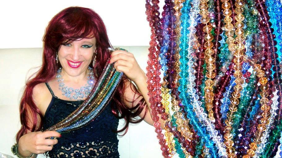 Ameynra jewelry - crystal bead art by Sofia by SOFIAMETALQUEEN