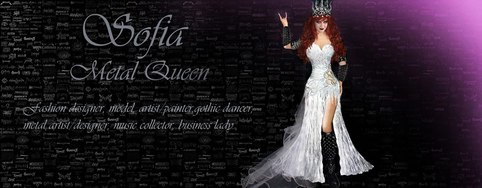 Sofia Metal Queen - white gown - facebook cover by SOFIAMETALQUEEN