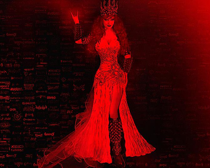 Fashion by Sofia Metal Queen. Hellish beauty by SOFIAMETALQUEEN