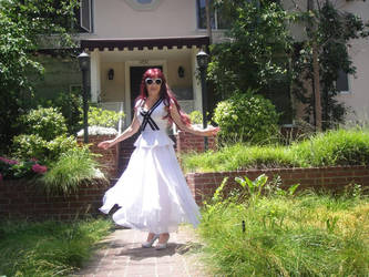 Ameynra fashion by Sofia Goldberg. White beauty 01 by SOFIAMETALQUEEN