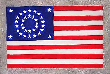 Historical US flag design with 34 stars by SOFIAMETALQUEEN