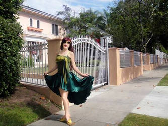 Ameynra fashion green sation high-low skirt. Sofia by SOFIAMETALQUEEN