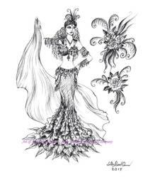 Kristine Kim - belly dancer, a friend of Ameynra by SOFIAMETALQUEEN