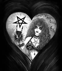 Sofia Metal Queen. Portrait in Black Metal style by SOFIAMETALQUEEN