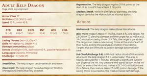 Adult Kelp Dragon