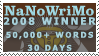 2008 NaNoWriMo Winner by jackalibis