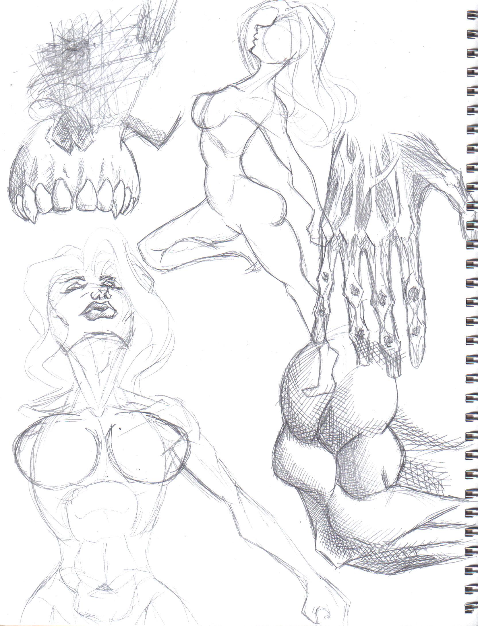 Random Sketches 1 by KingVego