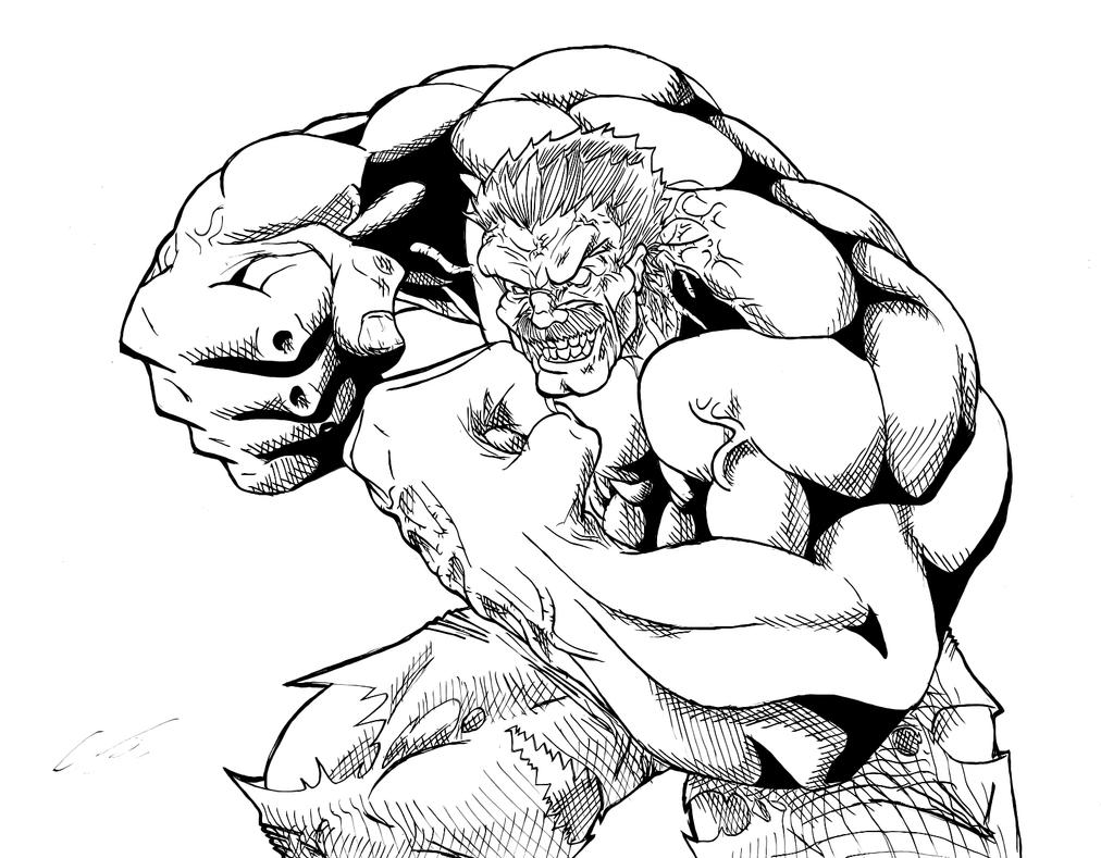 Incredible hulk coloring book pages - The Real Red Hulk By Kingvego