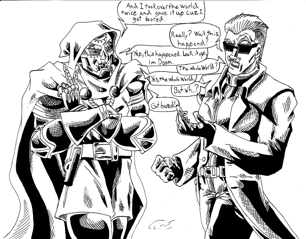 Doom And Wesker by KingVego