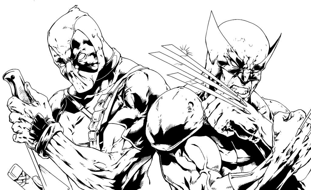 Deadpool and Wolverine Inked by KingVego