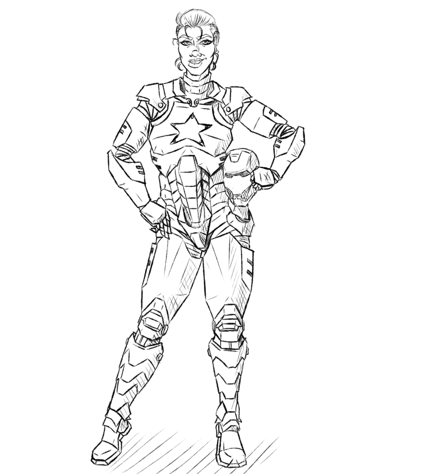Commission - Iron Patriot by KingVego
