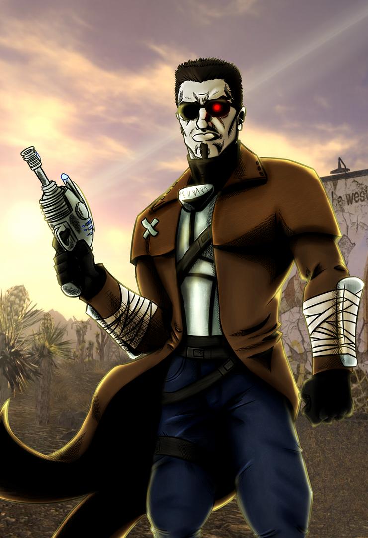 Adam The Terminator - Painted+Line Art by KingVego