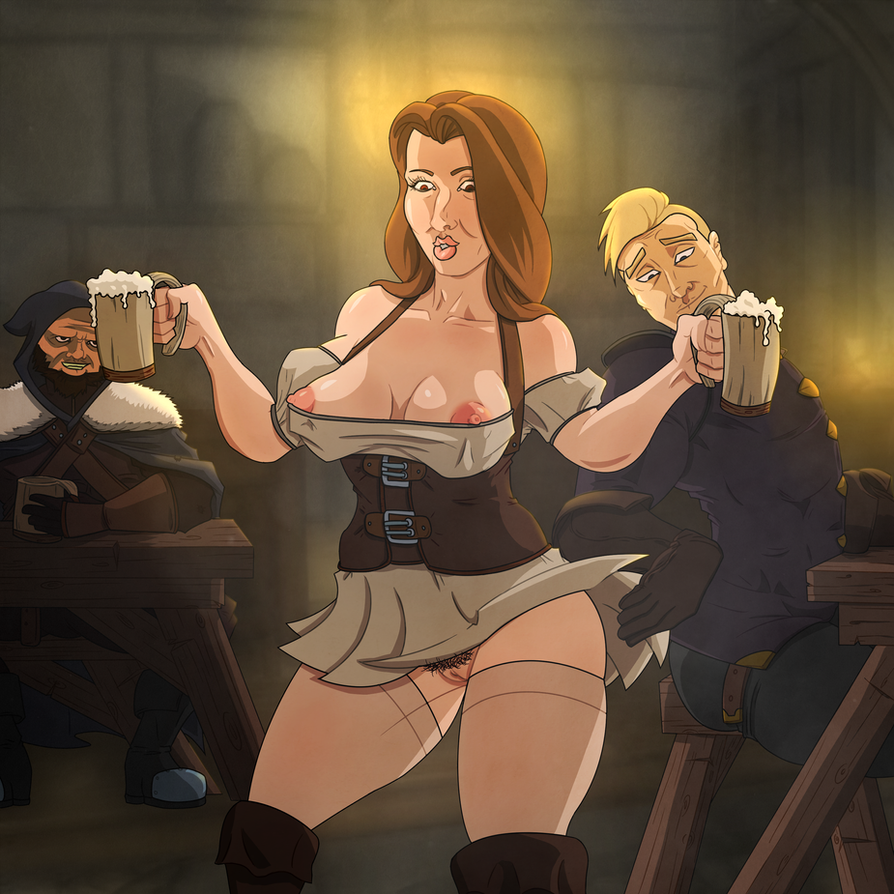 Commission - The Bar Wench by KingVego