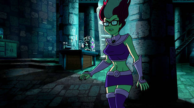 Edit- Spooky Velma dressed up as Starfire