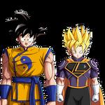 Edit- Kakaroto and Superboy Dragon Ball DC