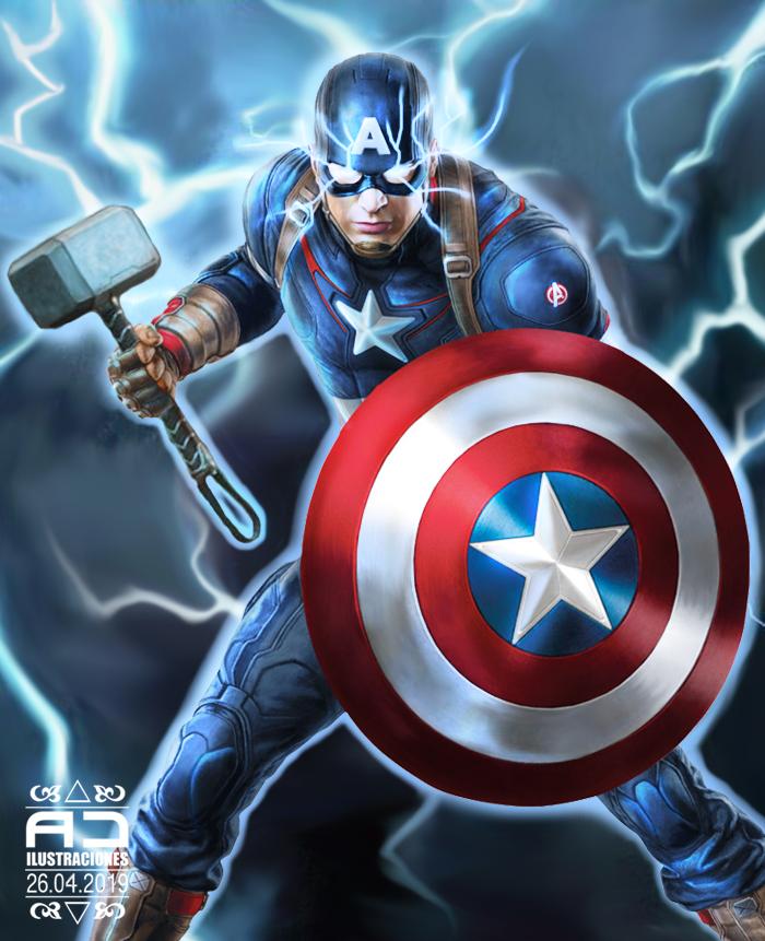 Captain America Thor Mjolnir by Adcoli on DeviantArt