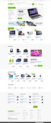 Media Center - Electronics eCommerce PSD by bcubepl