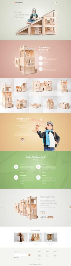 PlayHouse - Modest Shop - eCommerce PSD Template