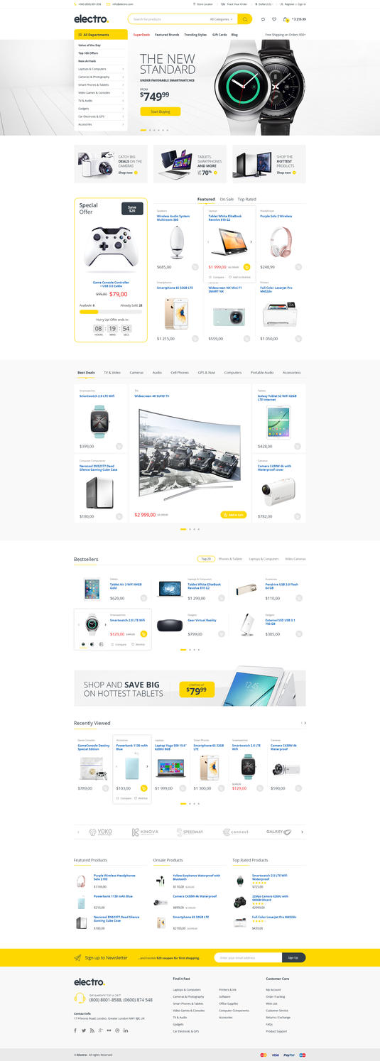 Electro - Electronics eCommerce PSD by bcubepl