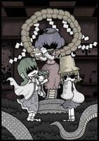 Kanako, Suwako and Sanae by Genkidown