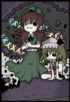 Meiling and Flandre by Genkidown