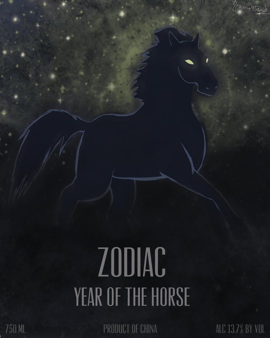 Zodiac Wine: Year of the Horse by Spazzel