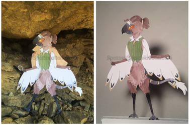 Commission - Paper Puppet- Sebasten by Spazzel