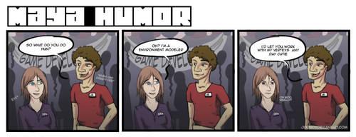 Maya Humor Comic Strip by jdowdy