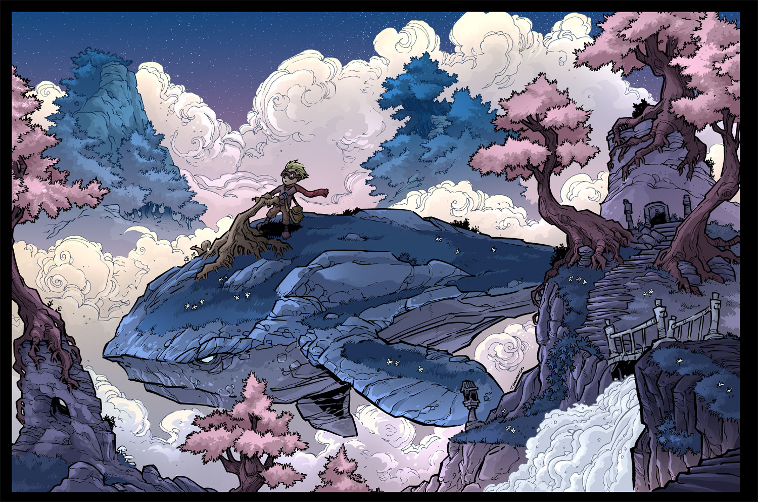 whale rider in the sky Done by travisJhanson