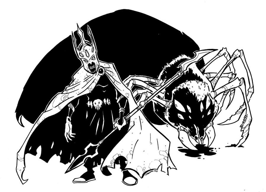 Melkor Morgoth and Ungoliant