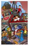 Phoenix Comic Con Brochure Cover by travisJhanson