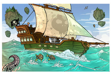 Sailing the seas Treasure Hunt page 1 by travisJhanson