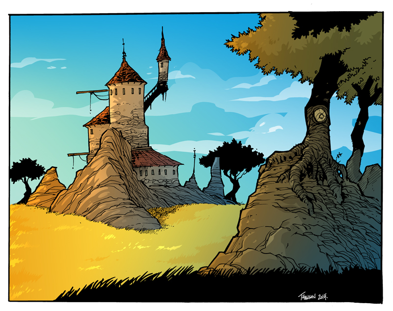 Castle on the range by travisJhanson