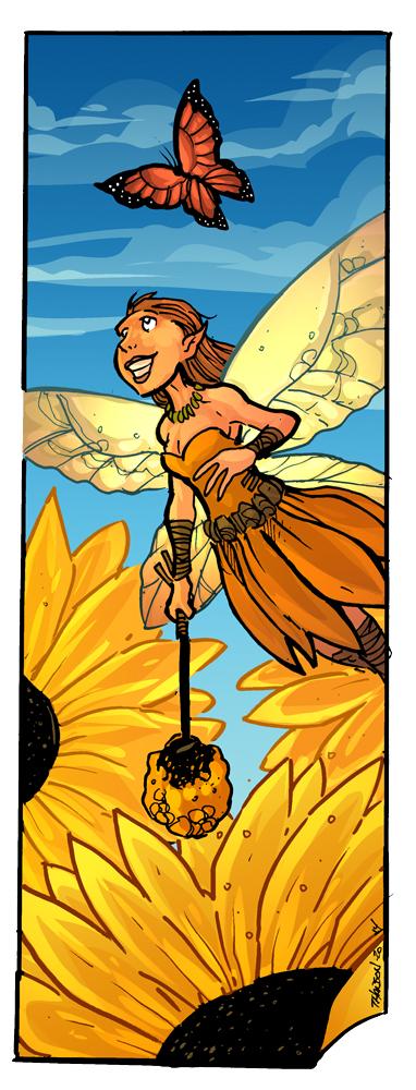 Sunflower fairy by travisJhanson