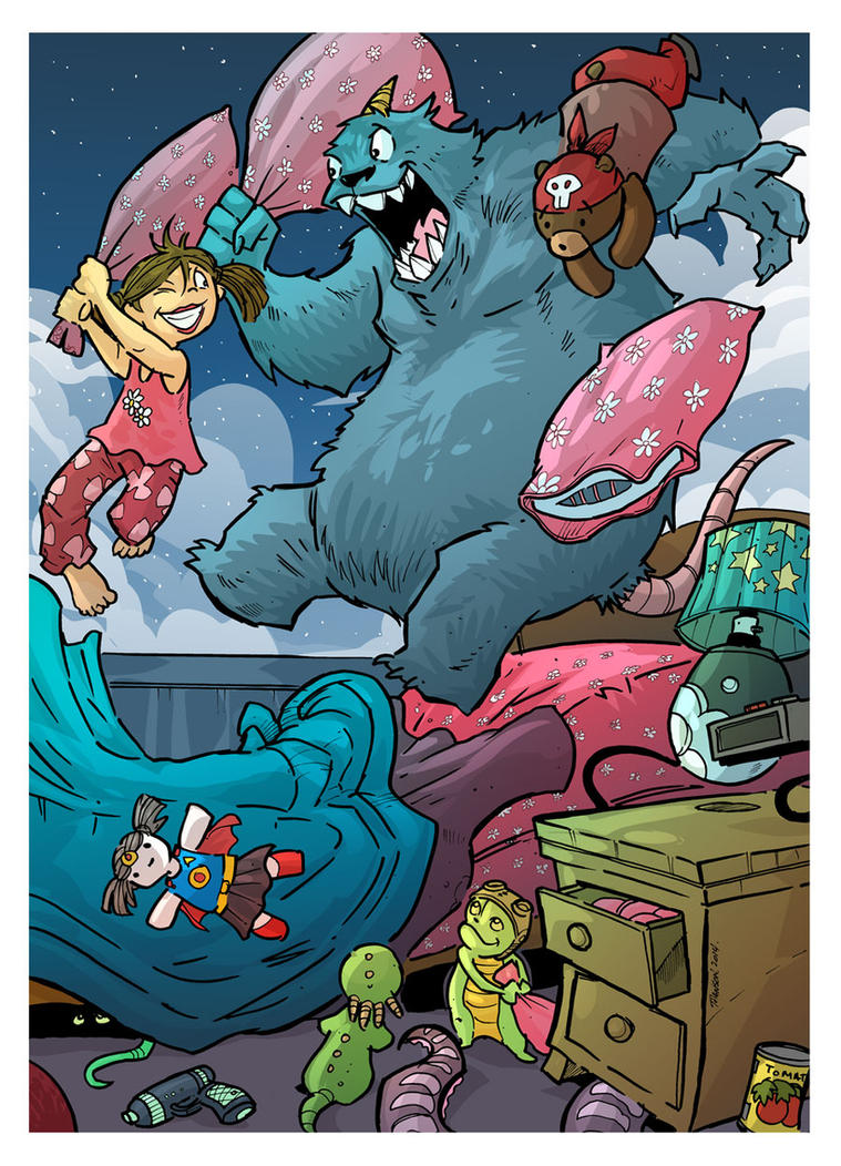 Monster Pillow Fight by travisJhanson
