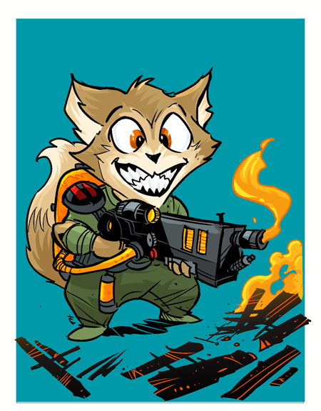 Kitten with a Flame Thrower by travisJhanson
