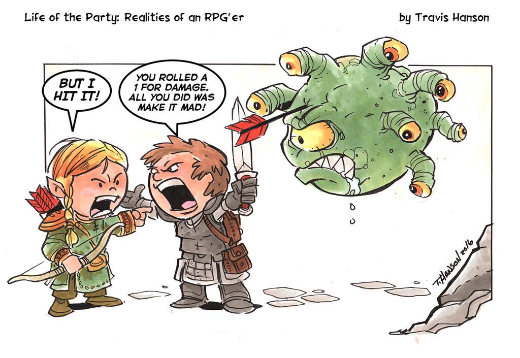 Poor Shot : RPG Comic by travisJhanson