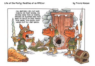 kobolds and vorpal swords: RPG Comic by travisJhanson