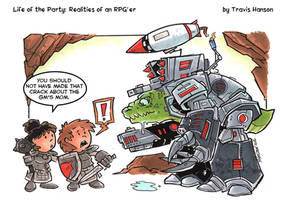 Ticking off the gm: RPG Comic by travisJhanson