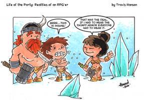 snow battle gear :RPG Comic by travisJhanson