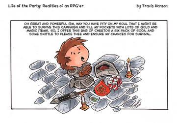 A Prayer to the GM: RPG Comic by travisJhanson