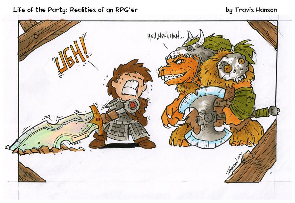 the drawback of big swords : RPG Comic by travisJhanson