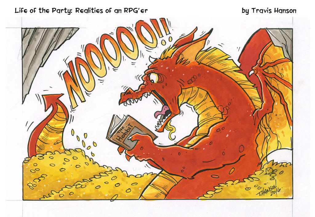 dragons, hobbits and books- RPG Comic by travisJhanson