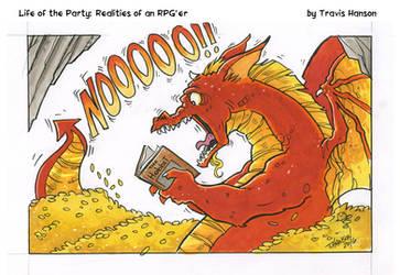 dragons, hobbits and books- RPG Comic by travisJhanson