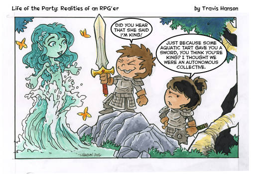 does a sword make me king? RPG Comic
