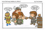 Bragging about war wounds: RPG Comic