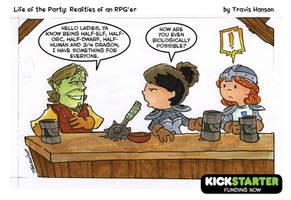 3/4 dragon? RPG Comic by travisJhanson